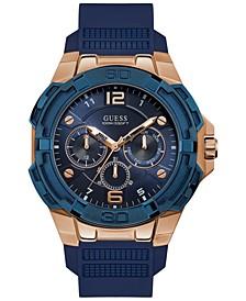 Men's Genesis Blue Silicone Strap Watch 51.5mm