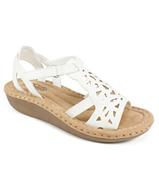 Cliffs by White Mountain Chambray Perforated Sandals