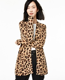Charter Club Animal-Print Pure Cashmere Cardigan, Regular & Petite Sizes, Created for Macy's