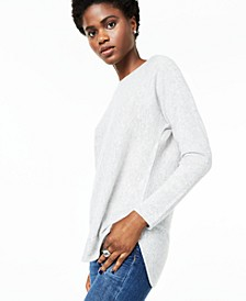 Pure Cashmere Long-Sleeve Shirttail Sweater, Regular & Petite Sizes, Created For Macy's