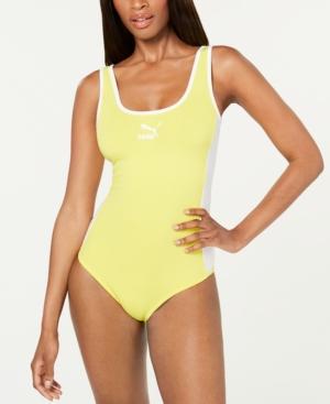 Puma Classics T7 Bodysuit In Yellow