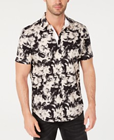 I.N.C. Men's Abstract Floral Shirt, Created for Macy's