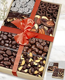 Dark Belgian Chocolate-Covered Nut & Snack Gift Tray Set