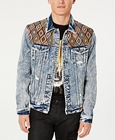 Men's Embroidered Yoke Denim Jacket