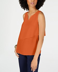 Thalia Sodi Hardware Tiered Sleeveless Top, Created for Macy's