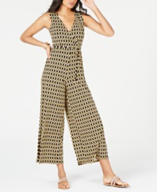 Thalia Sodi Printed Surplice Jumpsuit, Created for Macy's