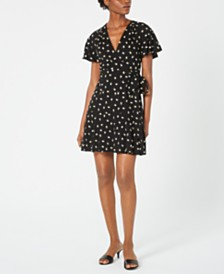 Jill Jill Stuart Floral-Embroidered Wrap Dress