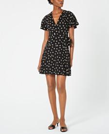 Jill Jill Stuart Floral-Embroidered Wrap Dress
