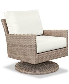 Amari Parchment Outdoor Swivel Chair With Sunbrella® Cushions