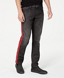 Men's Slim-Fit Logo Tape Jeans