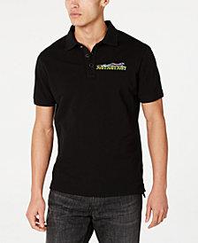 Just Cavalli Men's Logo & X-Ray Cheetah Graphic Polo Shirt
