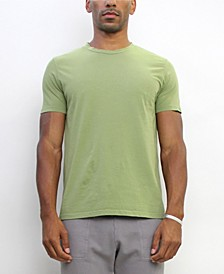 TMC001CJ Mens Cotton Jersey Short-Sleeve Basic Crew-Neck T-Shirt