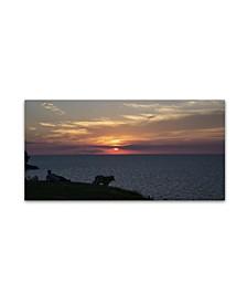 """Kurt Shaffer 'Front Row to a Beautiful Sunset' Canvas Art - 10"""" x 19"""""""