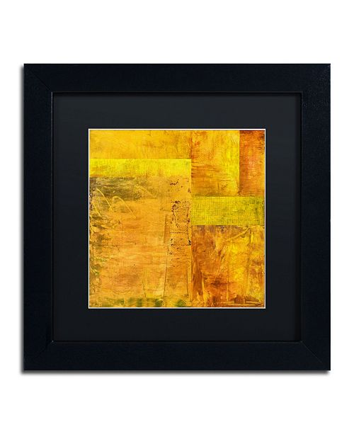 "Trademark Global Michelle Calkins 'Essence of Yellow 2' Matted Framed Art - 11"" x 11"""