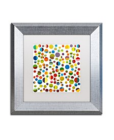 """Michelle Calkins 'Found My Marbles 3.0' Matted Framed Art - 11"""" x 11"""""""