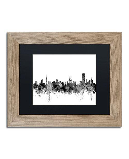 "Trademark Global Michael Tompsett 'Pretoria S. Africa Skyline B&W' Matted Framed Art - 11"" x 14"""