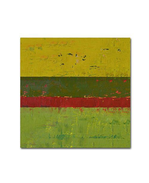 "Trademark Global Michelle Calkins 'Yellow Sky' Canvas Art - 14"" x 14"""