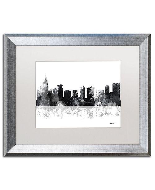 "Trademark Global Marlene Watson 'Orlando Florida Skyline BG-1' Matted Framed Art - 16"" x 20"""