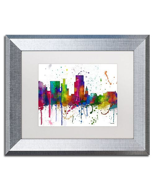 "Trademark Global Marlene Watson 'Boise Idaho Skyline Mclr-1' Matted Framed Art - 11"" x 14"""