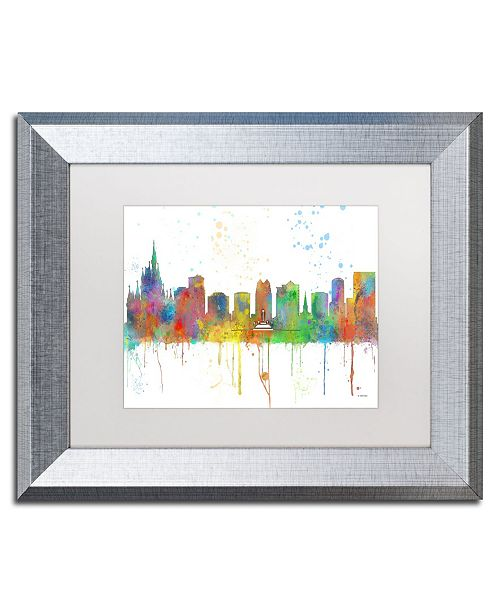 "Trademark Global Marlene Watson 'Orlando Florida Skyline Mclr-1' Matted Framed Art - 11"" x 14"""