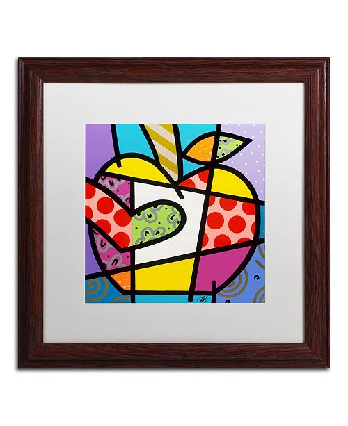 "Trademark Global Roberto Rafael 'Big Apple I' Matted Framed Art - 16"" x 16"""