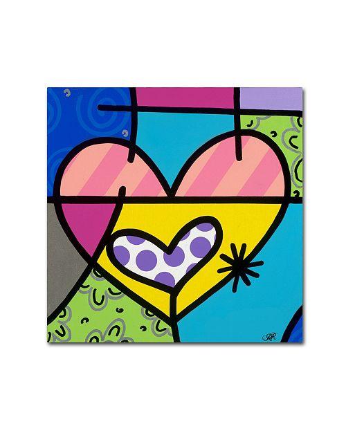 "Trademark Global Roberto Rafael 'Big Heart I' Canvas Art - 14"" x 14"""