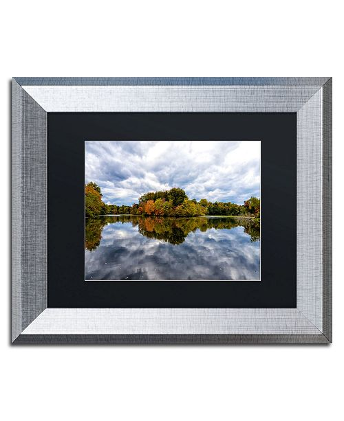 "Trademark Global PIPA Fine Art 'Autumn Reflections' Matted Framed Art - 11"" x 14"""