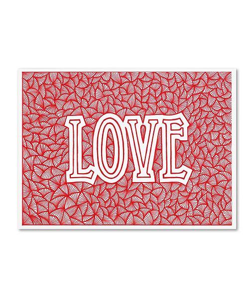 "Trademark Global Viz Art Ink 'Love' Canvas Art - 14"" x 19"""