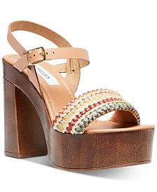 Steve Madden Women's Laurisa Wood Platform Sandals