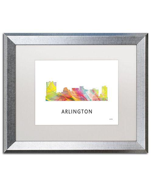 "Trademark Global Marlene Watson 'Arlington Texas Skyline WB-1' Matted Framed Art - 16"" x 20"""