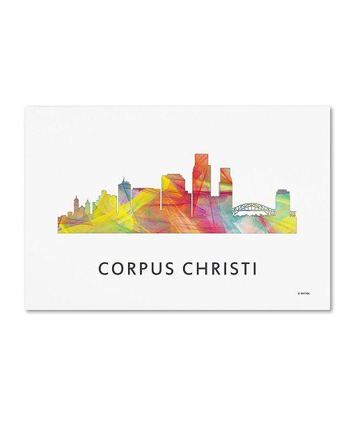 "Trademark Global Marlene Watson 'Corpus Christi Texas WB-1' Canvas Art - 12"" x 19"""