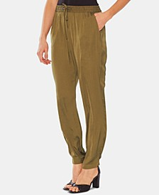 Drawstring Pull-On Pants
