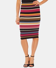 Vince Camuto Oasis Striped Pull-On Skirt