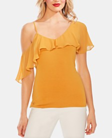 Vince Camuto Ruffled One-Shoulder Top