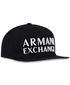 A|X Armani Exchange Men's 3D Logo Snapback Hat