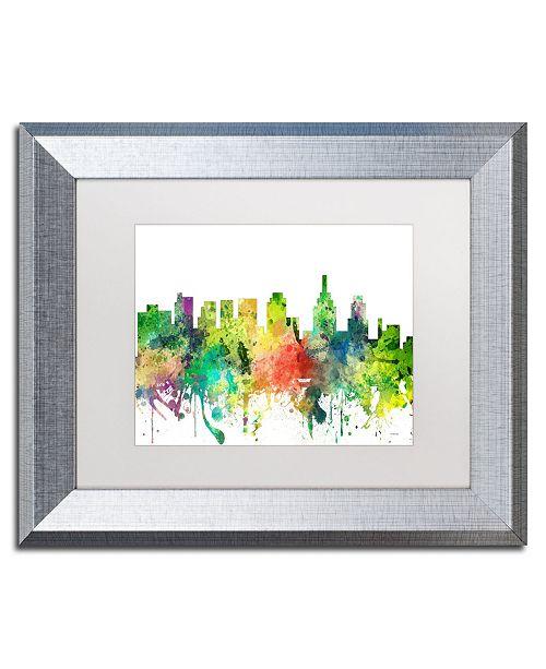 """Trademark Global Marlene Watson 'Philadelphia Skyline SP' Matted Framed Art - 11"""" x 14"""""""