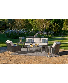 Amari Pepper Outdoor Seating Collection, with Sunbrella® Cushions
