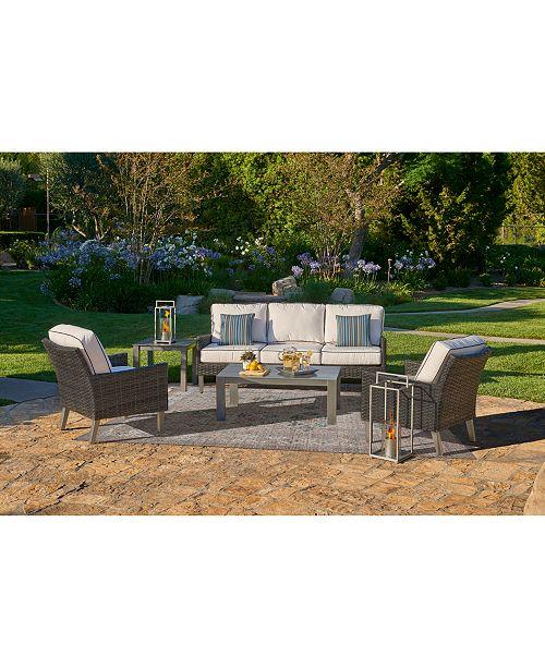 Furniture Amari Pepper Outdoor Sofa with Sunbrella® Cushions