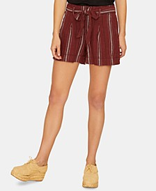 Inland Sash Striped Self-Tie Shorts