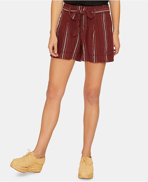 Sanctuary Inland Sash Striped Self-Tie Shorts
