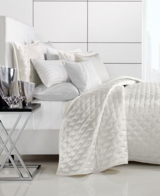 "Moire 94"" x 96"" Full/Queen Coverlet, Created for Macy's"