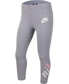 Nike Big Girls 3/4-Length Logo-Graphic Leggings