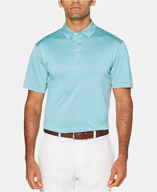 PGA TOUR Men's Big & Tall Striped Golf Polo