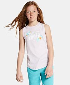Big Girls Power-Print Cotton Tank Top