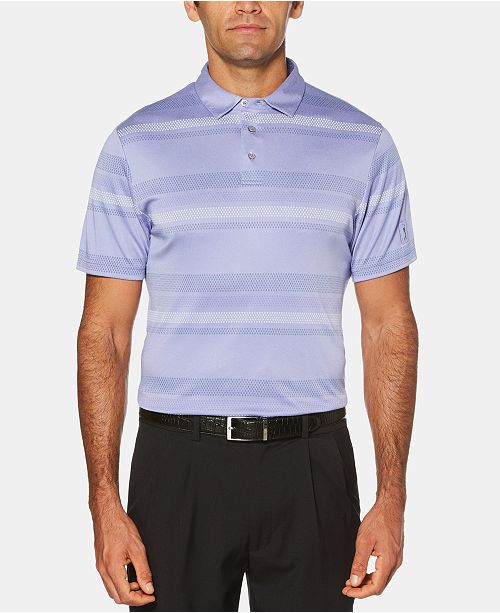 PGA TOUR Men's Printed-Stripe Golf Polo