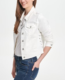 DKNY Laced-Detail Denim Jacket
