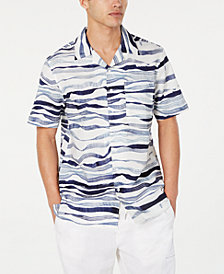 Sean John Men's Wavy Print Shirt