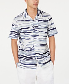 Sean John Men's Wavy Print Shirt