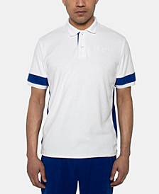 Men's Regular-Fit Colorblocked Terry Polo
