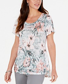 Petite Short-Sleeve Top, Created for Macy's